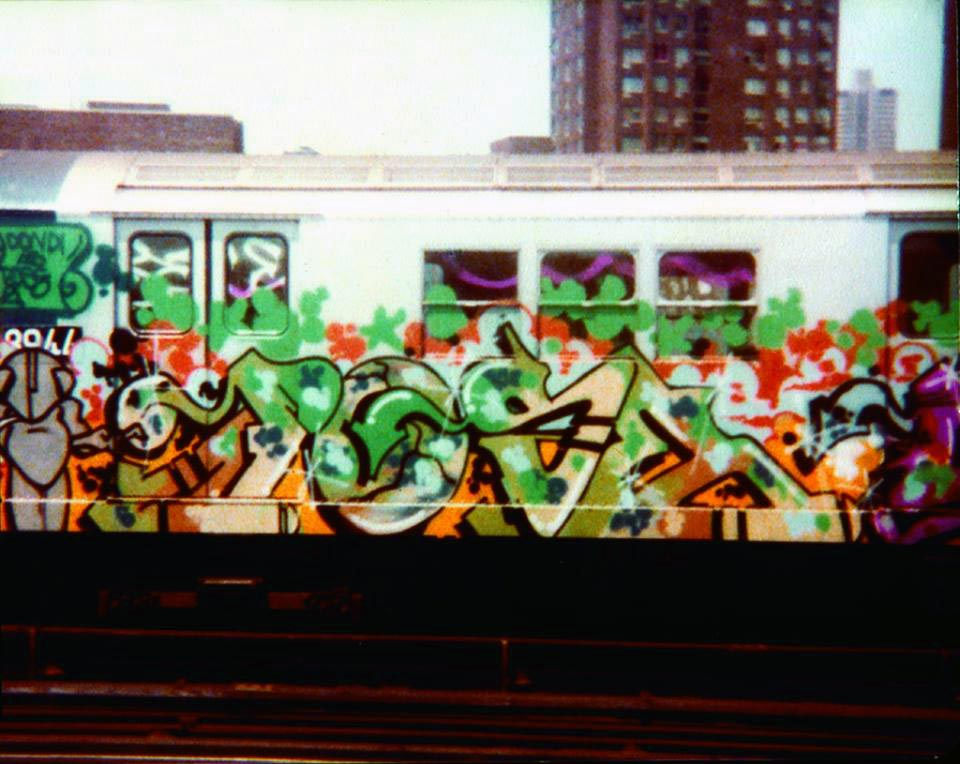 graffiti train subway nyc newyork usa calssic style