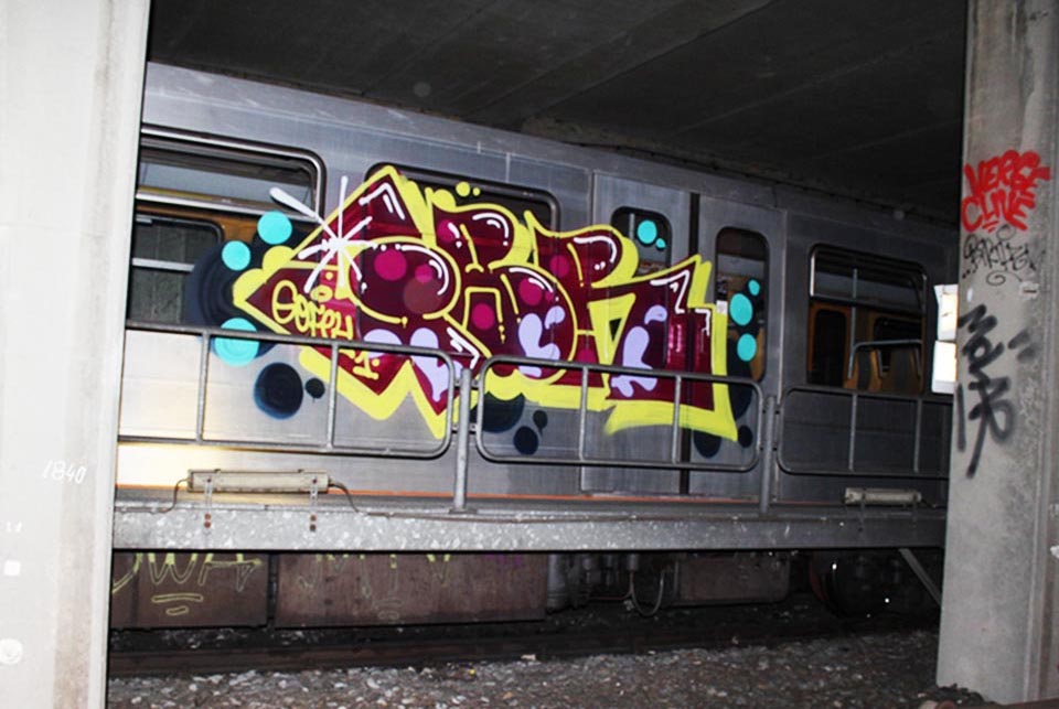 graffiti subway train belgium brussels gofey1 gbr