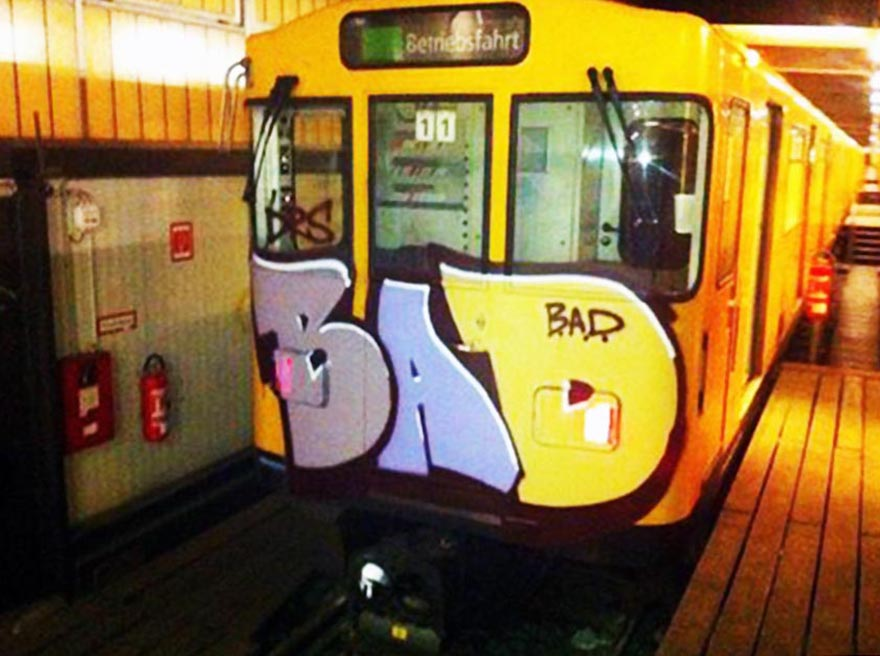 subway graffiti train germany berlin bad crew head