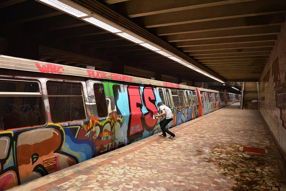 graffiti train subway bucharest romania fs fucksecurity 2015