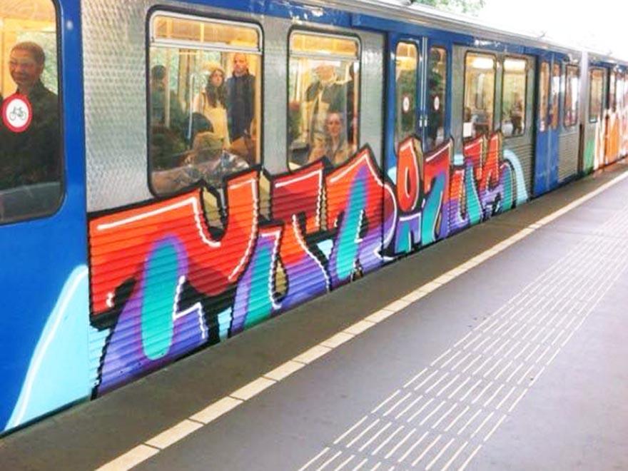 graffiti train subway amsterdam holland furious running