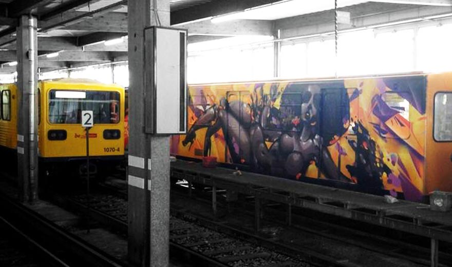 subway graffiti train germany berlin sofles wholecar