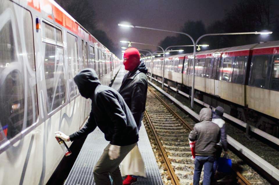 graffiti subway train germany hamburg action