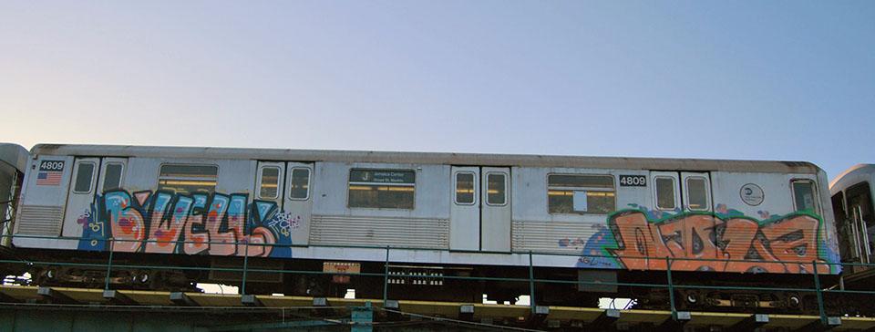 graffiti train subway newyork nyc usa bwell nola