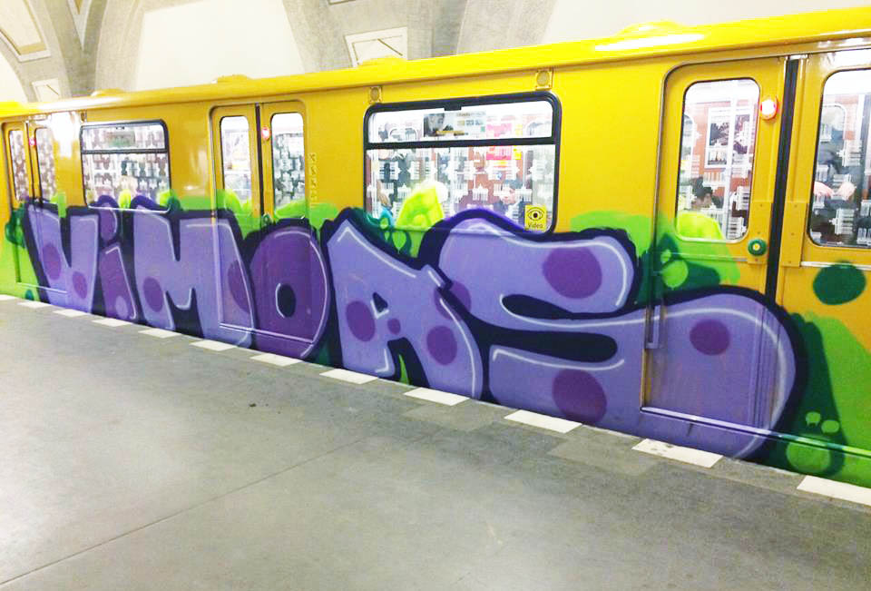 graffiti train subway berlin germany vimoas 2015 running