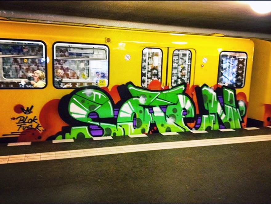 graffiti train subway berlin germany soten