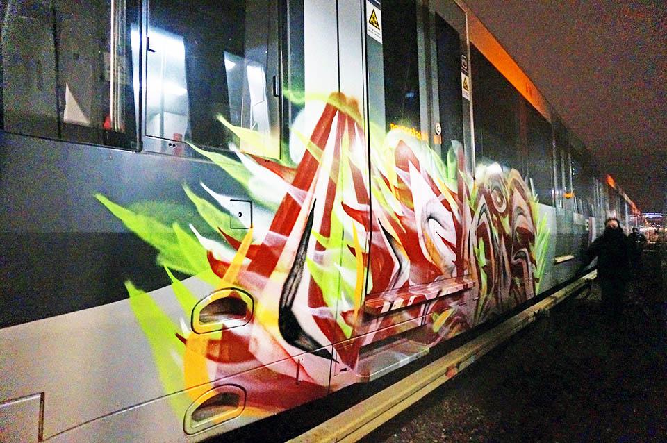 graffiti train subway rotterdam holland