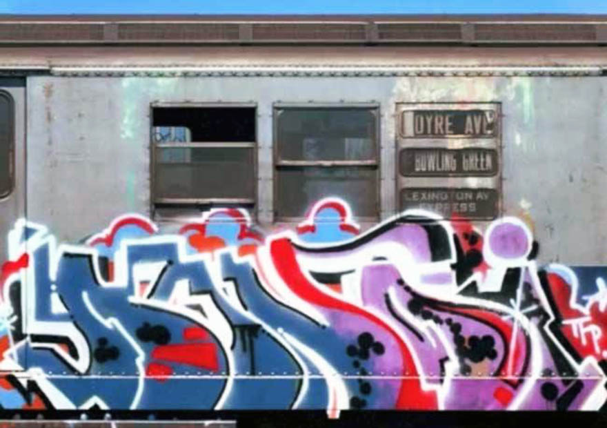graffiti subway train dondi graffitigod nyc newyork rip