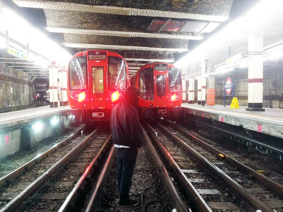 graffiti train subway london uk