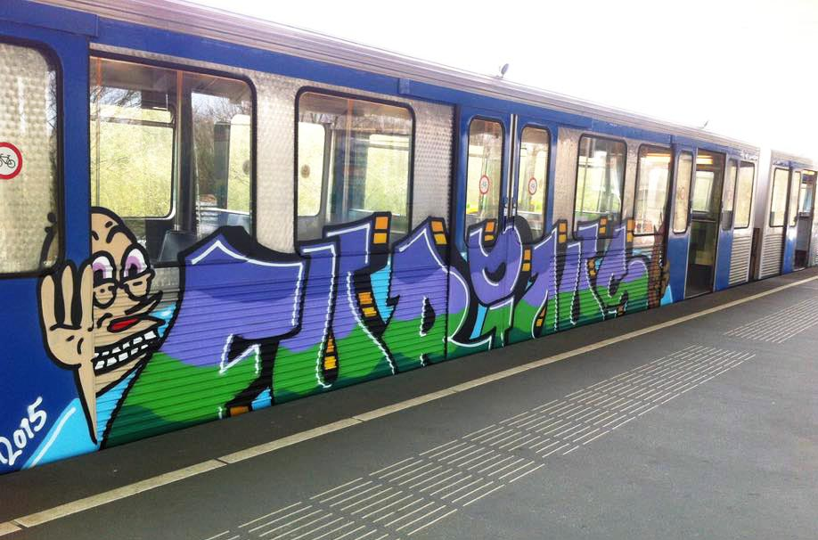 graffiti subway train amsterdam holland subway