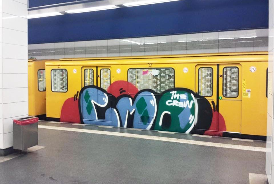 graffiti subway train berlin germany cmo
