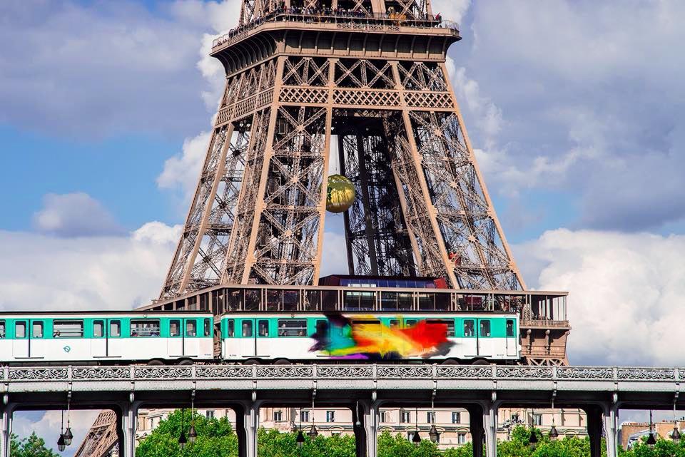 graffiti subway train paris france taps moses TM