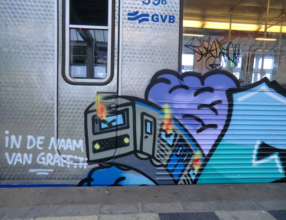 graffiti trains subway amsterdam holland furious akbar