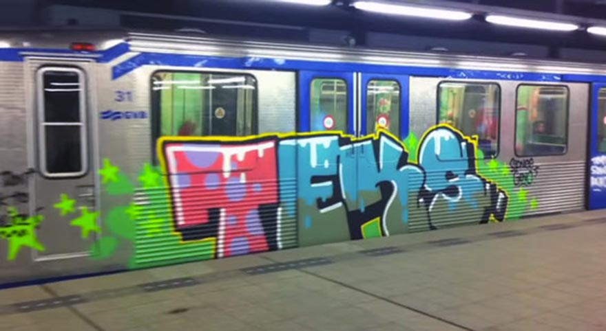 graffiti trains subway amsterdam holland teks