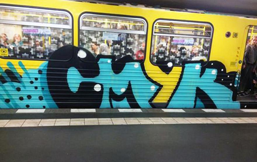 graffiti train subway germany berlin cmyk 2015