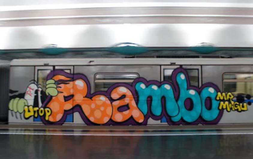 graffiti train subway moskow russia 2015