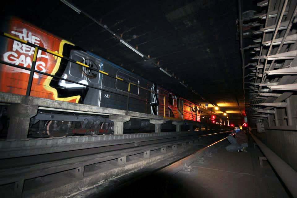 graffiti train subway budapest hungary 2015
