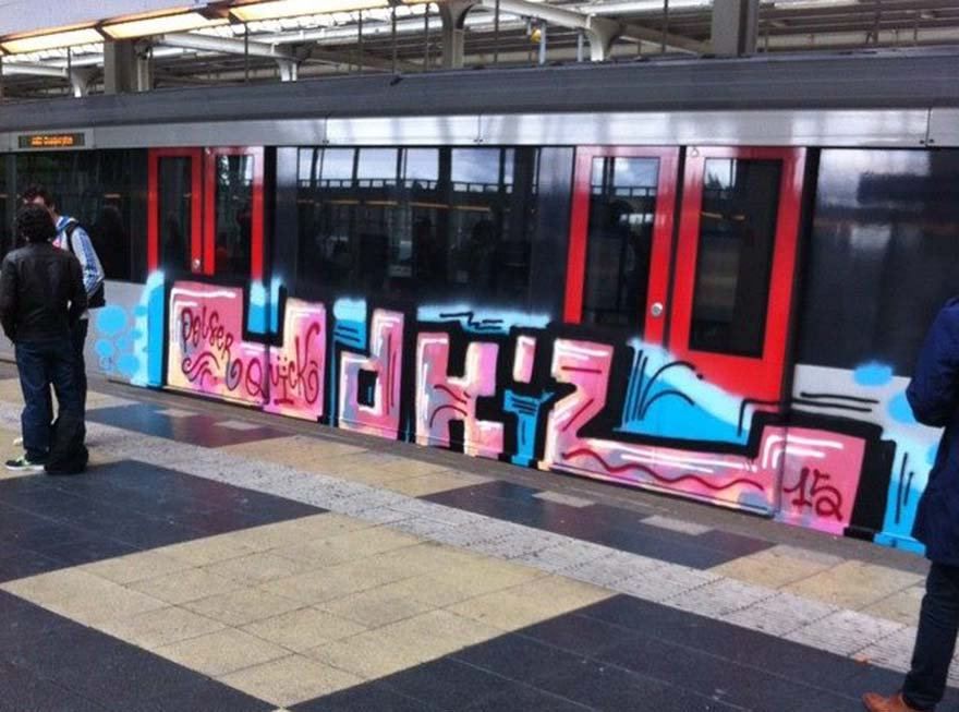 graffiti train subway amsterdam holland 2015