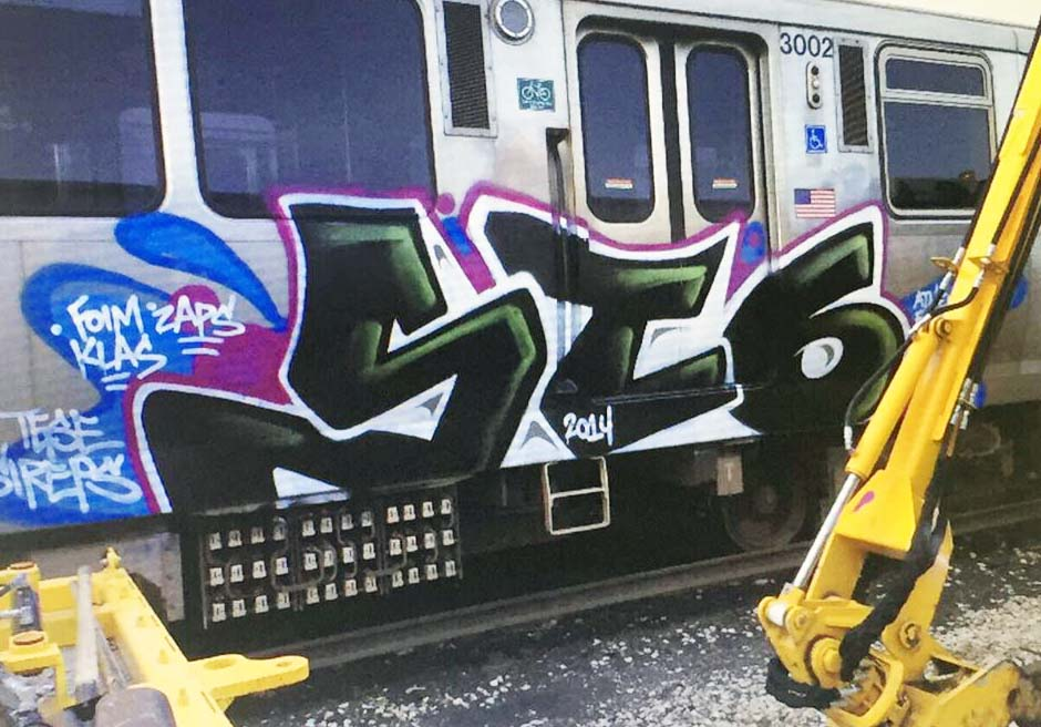 grafiti train subway 2014 chicago usa