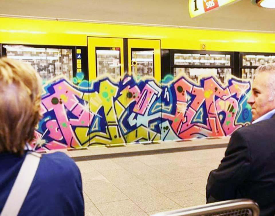 graffiti train subway berlin germany pocho 2015