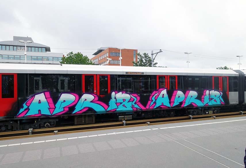 graffiti subway train amsterdam holland 2015