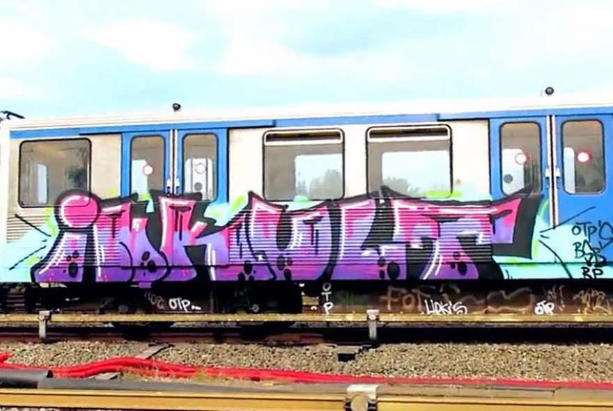 graffiti train subway amsterdam holland inkult