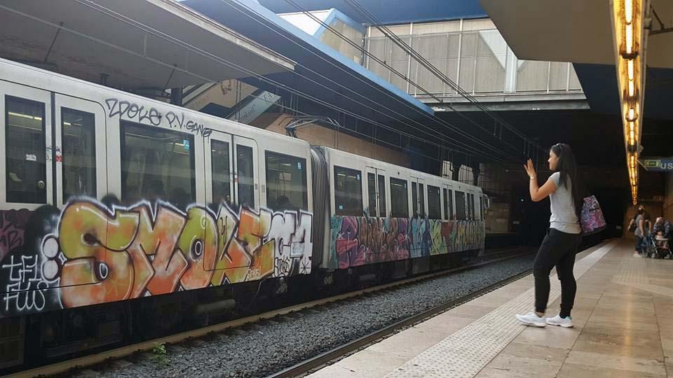 graffiti subway train rome italy 2015 smole