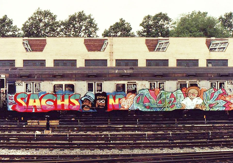 graffiti train subway nyc classic usa newyork sachsoon quik legends