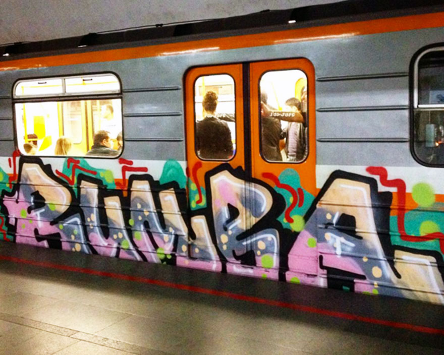 graffiti subway train berlin yerevan armenia 2015 rollin