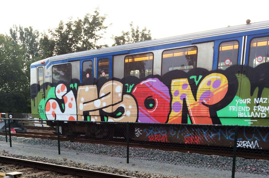 graffiti subway train amsterdam holland