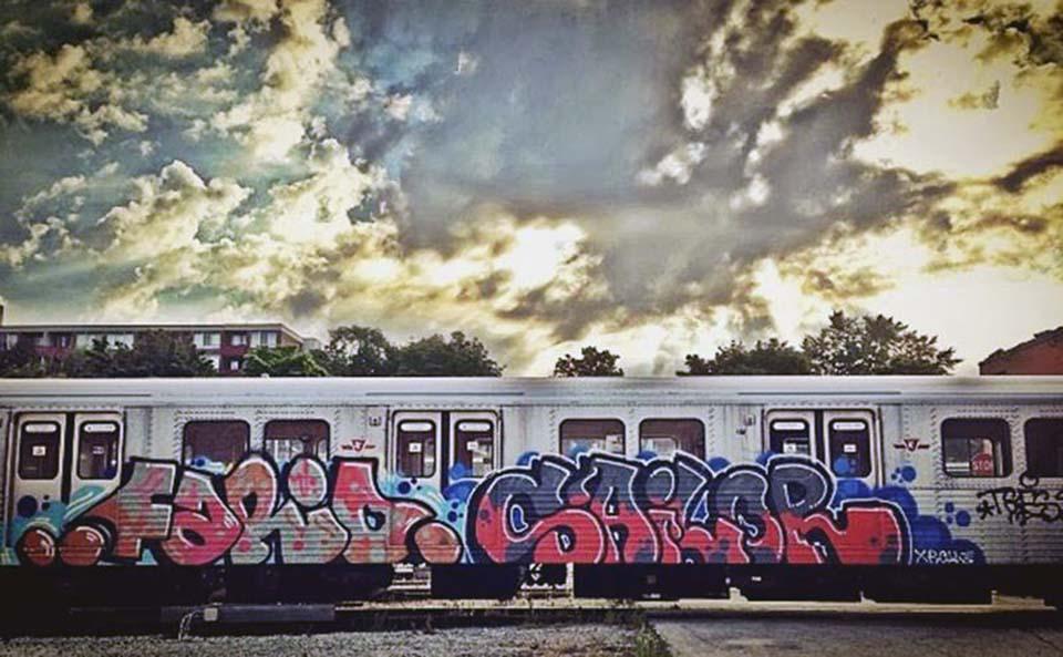 graffiti trains subway toronto canada fario sailor