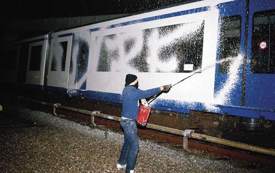 graffiti trains subway amsterdam holland