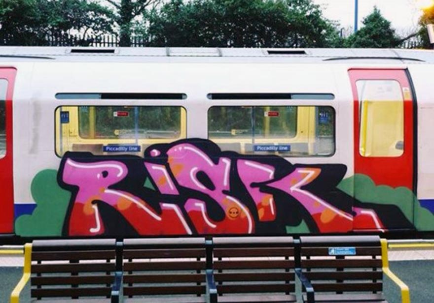 graffiti train subway london uk tube risk rip