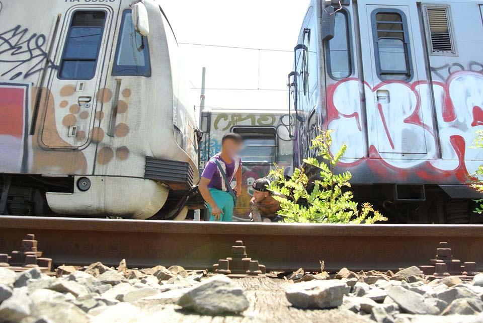graffiti subway train rome italy lash king