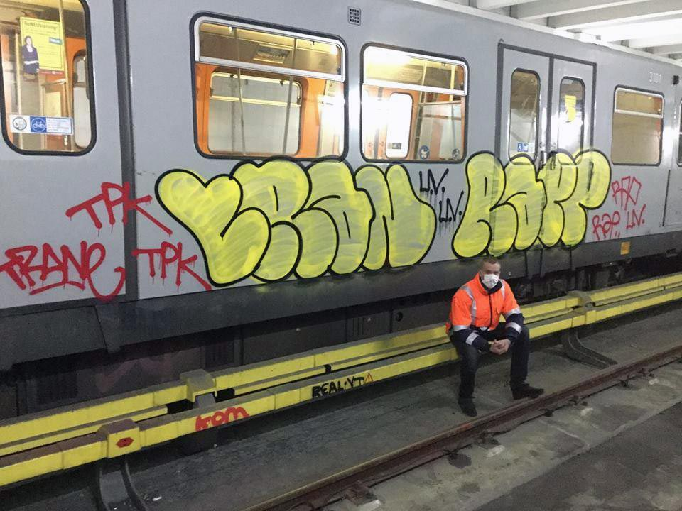 graffiti subway train vienna austria trane rap