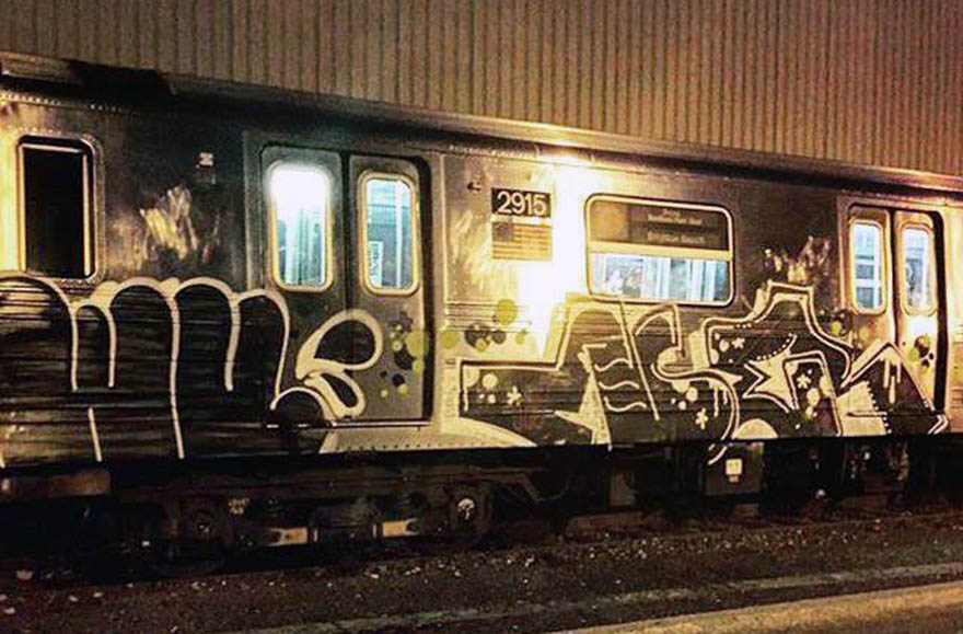 graffiti subway train newyork cleantrain wufc ner USA