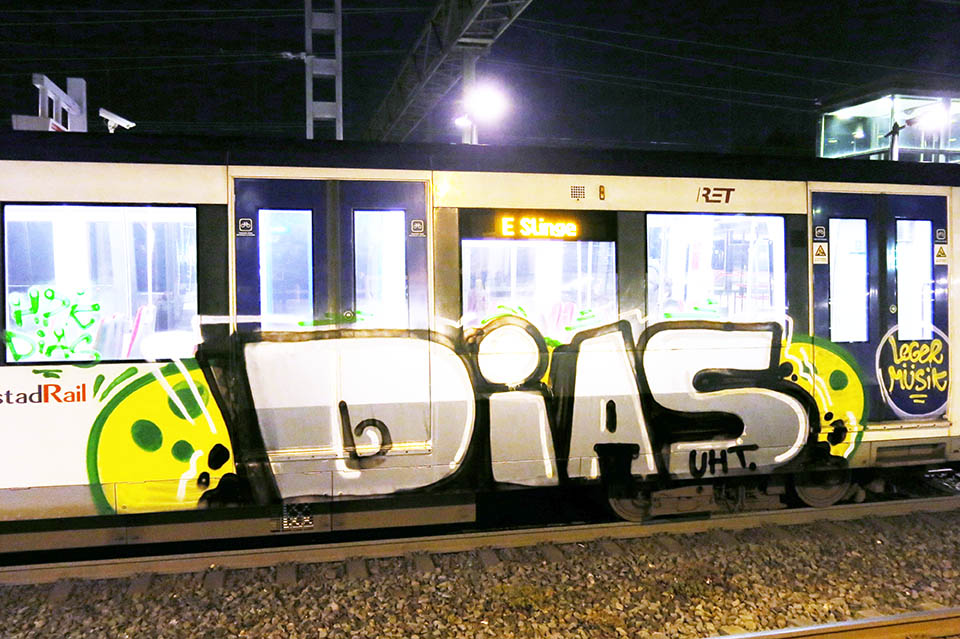 graffiti train subway holland rotterdam diasuht 2016 dias uht