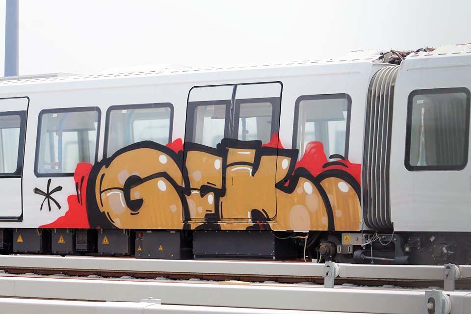 graffiti train subway copenhagen denmark gfk