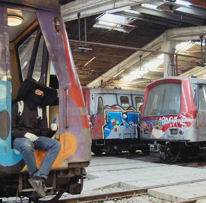 graffiti train subway bucharest romania yard