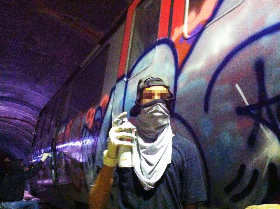 graffiti subway train caracas venezuela tunnel action
