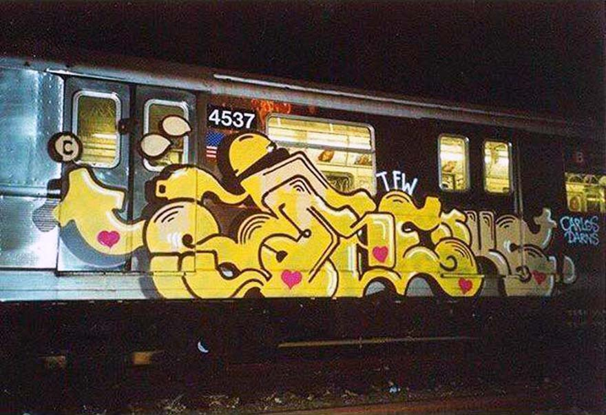 graffiti subway train nyc newyork usa renks 2016