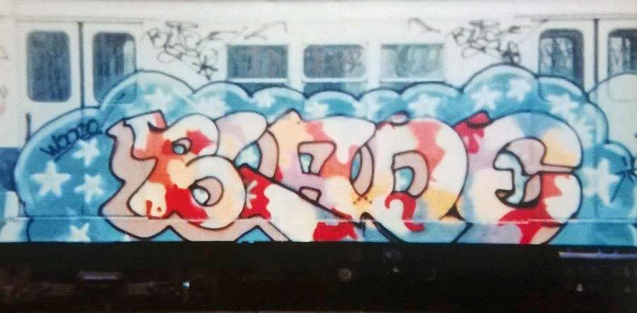 graffiti subway train nyc newyork usa blade classic 80s