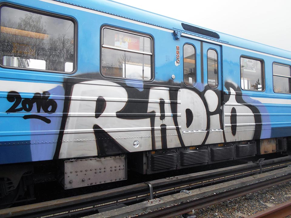 graffiti train subway sweden stockholm radio 2016