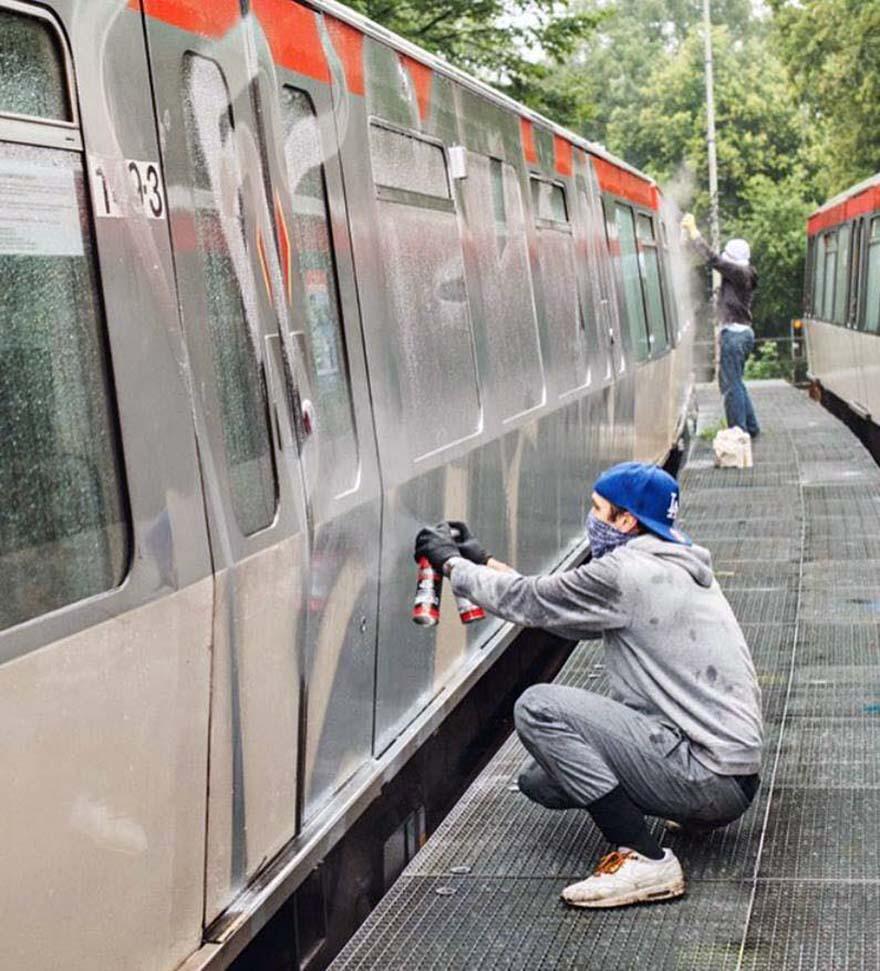 subway train graffiti hamburg germany wholecar action ©EdNightingale