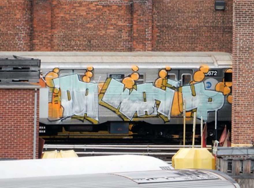 graffiti subway train nyc newyork usa 2016