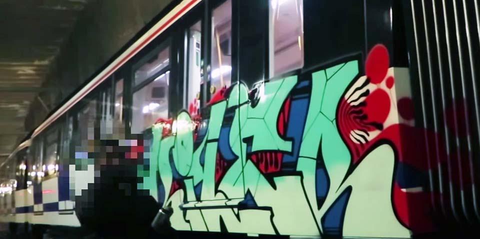 subway train graffiti madrid spain kiler