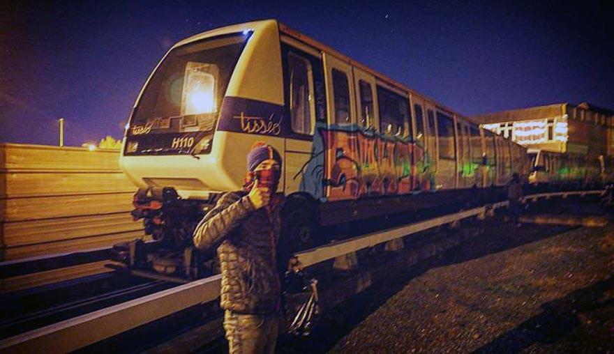 graffiti subway train toulouse france 2016