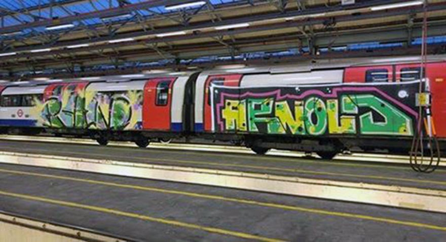 subway graffiti train london uk yard rhino arnold 2016