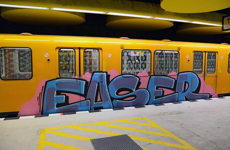 graffiti train subway berlin germany easer 2016