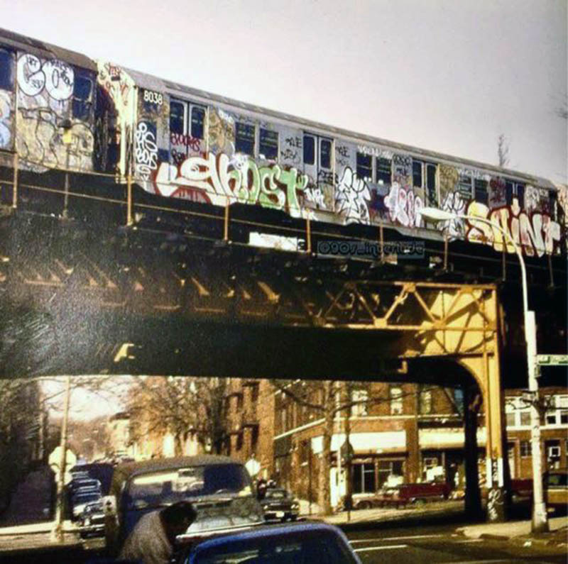 graffiti train subway nyc usa newyork ghost saint